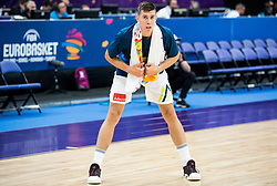 Vlatko Cancar of Slovenia at warming up prior to the basketball match between National Teams of Slovenia and Poland at Day 1 of the FIBA EuroBasket 2017 at Hartwall Arena in Helsinki, Finland on August 31, 2017. Photo by Vid Ponikvar / Sportida