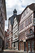 Fachwerk, Altstadt, Grünberg, Vogelsberg, Hessen, Deutschland