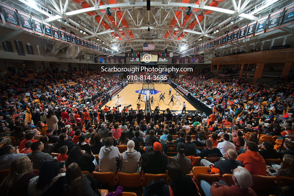 BUIES CREEK, NC - March 3rd, 2016 - Campbell Camels and Gardner Webb at Gilbert Craig Gore Arena in Buies Creek, NC. Photo By Bennett Scarborough