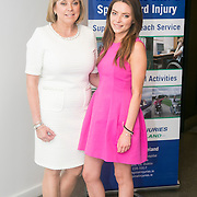 02/04/2015<br /> Picture at the Spinal Injuries Ireland Lunch at the Marker Hotel, Dublin were<br /> Fiona Bolger, CEO of Spinal Injuries Ireland (left) with Siabh O&rsquo;Connell.<br /> Pic: Alan Rowlette