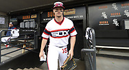 CHICAGO - APRIL 07:  Adam Engel #15 of the Chicago White Sox looks on against the Seattle Mariners on April 7, 2019 at Guaranteed Rate Field in Chicago, Illinois.  (Photo by Ron Vesely)  Subject:  Adam Engel