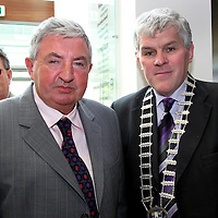 Brendan Daly with Mayor of Clare Pat Daly at the official opening of the new Ennis' Information Age Park<br /> <br /> Photograph by Yvonne Vaughan - 1601095
