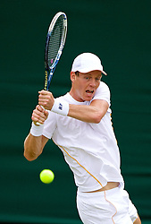 LONDON, ENGLAND - Monday, June 23, 2014: Tomas Berdych (CZE) during the Gentlemen's Singles 1st Round match on day one of the Wimbledon Lawn Tennis Championships at the All England Lawn Tennis and Croquet Club. (Pic by David Rawcliffe/Propaganda)