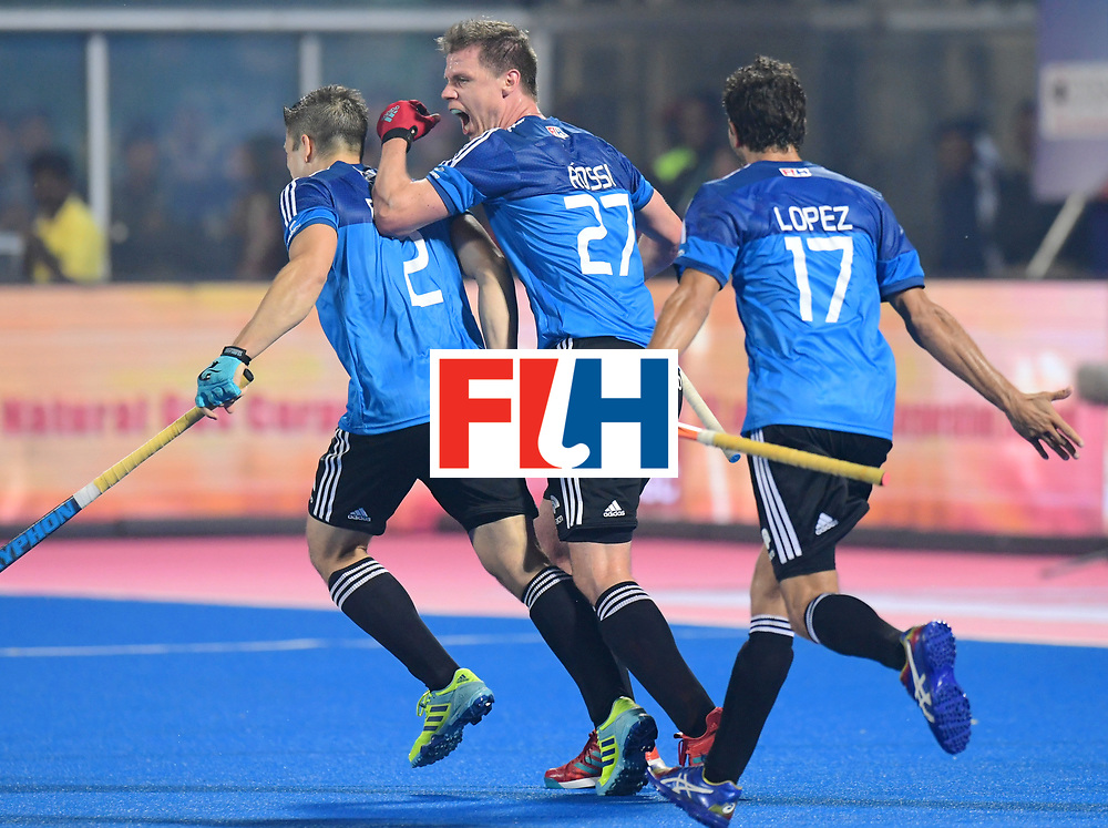 Odisha Men's Hockey World League Final Bhubaneswar 2017<br /> Match id:08<br /> Netherlands v Argentina<br /> Foto: Argentina scored 3-3<br /> WORLDSPORTPICS COPYRIGHT FRANK UIJLENBROEK