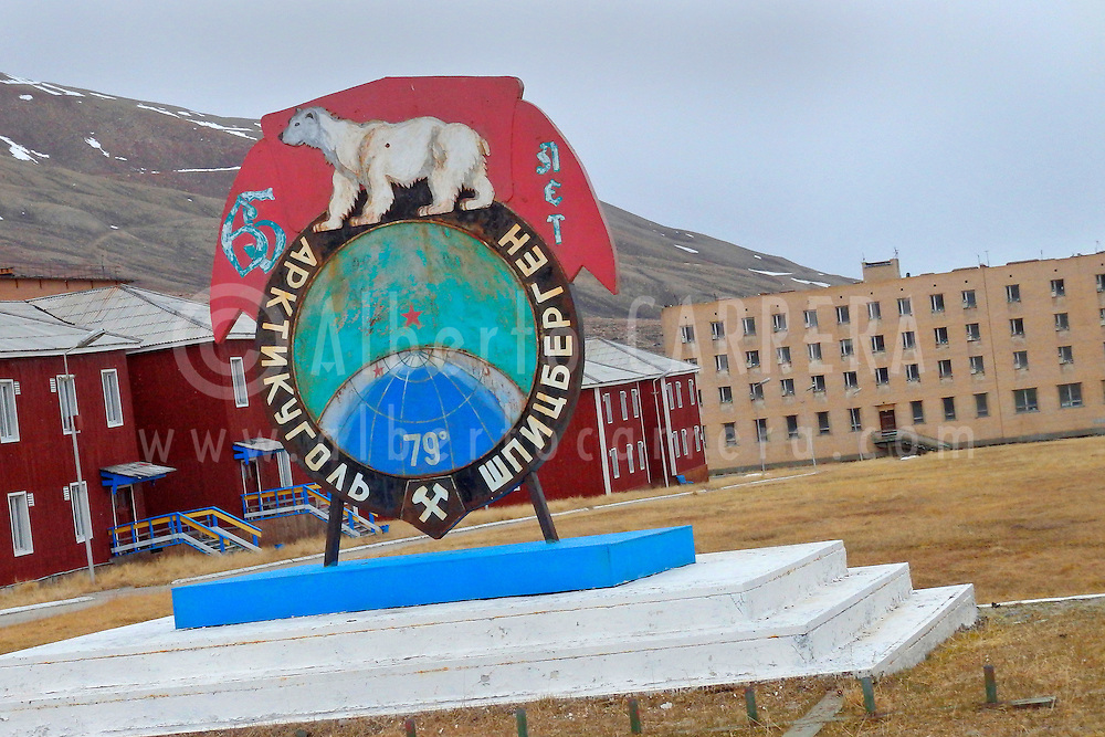 Alberto Carrera, Ancient Remains, Pyramiden, Soviet Ghost Town, Arctic Russian Old Settlement, Billefjord, Arctic, Spitsbergen, Svalbard, Norway, Europe