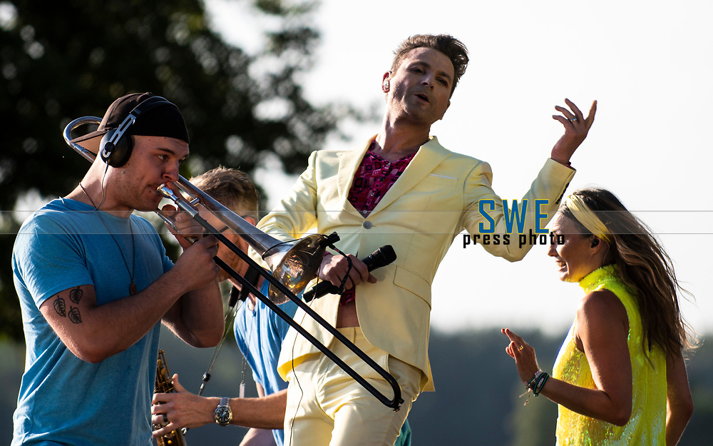 2018-07-06 | Hok, Sweden: Ola Salo during the Diggiloo show at Hooks Herrg&aring;rd ( Photo by: Marcus Vilson | Swe Press Photo )<br /> <br /> Keywords: Artists, Diggiloo, Show, Singers, Sweden, Tour, Music, Hok, Hooks Herrg&aring;rd, Ola Salo, The Ark