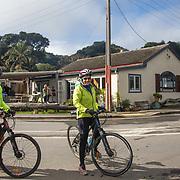 Ian & Ann on bikes