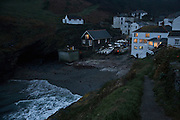 Portloe at dusk, Cornwall, UK