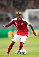 David Alaba of Austria during the International Friendly match at Worthersee Stadion, Klagenfurt, Austria.<br /> Picture by EXPA Pictures/Focus Images Ltd 07814482222<br /> 31/05/2016<br /> ***UK &amp; IRELAND ONLY***<br /> EXPA-GRO-160531-5362.jpg