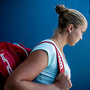 August 24, 2016, New Haven, Connecticut: <br /> Shelby Rogers of the United States walks through the tunnel during Day 6 of the 2016 Connecticut Open at the Yale University Tennis Center on Wednesday, August  24, 2016 in New Haven, Connecticut. <br /> (Photo by Billie Weiss/Connecticut Open)