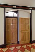 Detail of refurbished corridor showing doors
