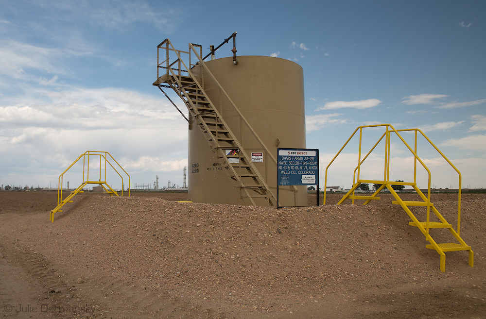 Fracking industry site in Weld County Colorado.