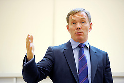 © Licensed to London News Pictures. 18/09/2013. Bristol, UK. Chris Bryant MP, shadow minister for borders and immigration, holds a public question and answer session at the Beehive Community Centre in St George, Bristol, listening to people's views and taking questions as well as setting out Labour approach to immigration policy.  18 September 2013.<br /> Photo credit : Simon Chapman/LNP