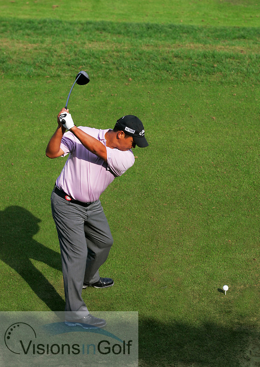 Michael Campbell swing sequence with driver<br /> 10th November 2005 on the first day, Sheshan International GC, Shanghai, China in the HSBC Champions <br /> Tournament. <br /> Mandatory Photo Credit: Mark Newcombe / visionsingolf.com