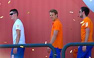 AMSTERDAM - COPYRIGHT ROBIN Sjef van den Berg en Epke Zonderland (NED)  UTRECHT Epke Zonderland (NED) <br /> 23-08-2016 ALGEMEEN: HULDIGING THUISKOMST TEAMNL: AMSTERDAM RAI