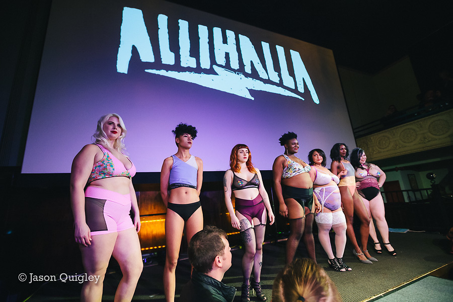 Allihalla at Unmentionable: A Lingerie Exhibition at the Mission Theater in Portland, OR. Feb. 8, 2017. Photo by Jason Quigley www.photojq.com