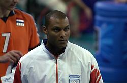 21-09-2000 AUS: Olympic Games Volleybal Nederland - Brazilie, Sydney<br /> Nederland verliest met 3-0 van Brazilie / Albert Cristina