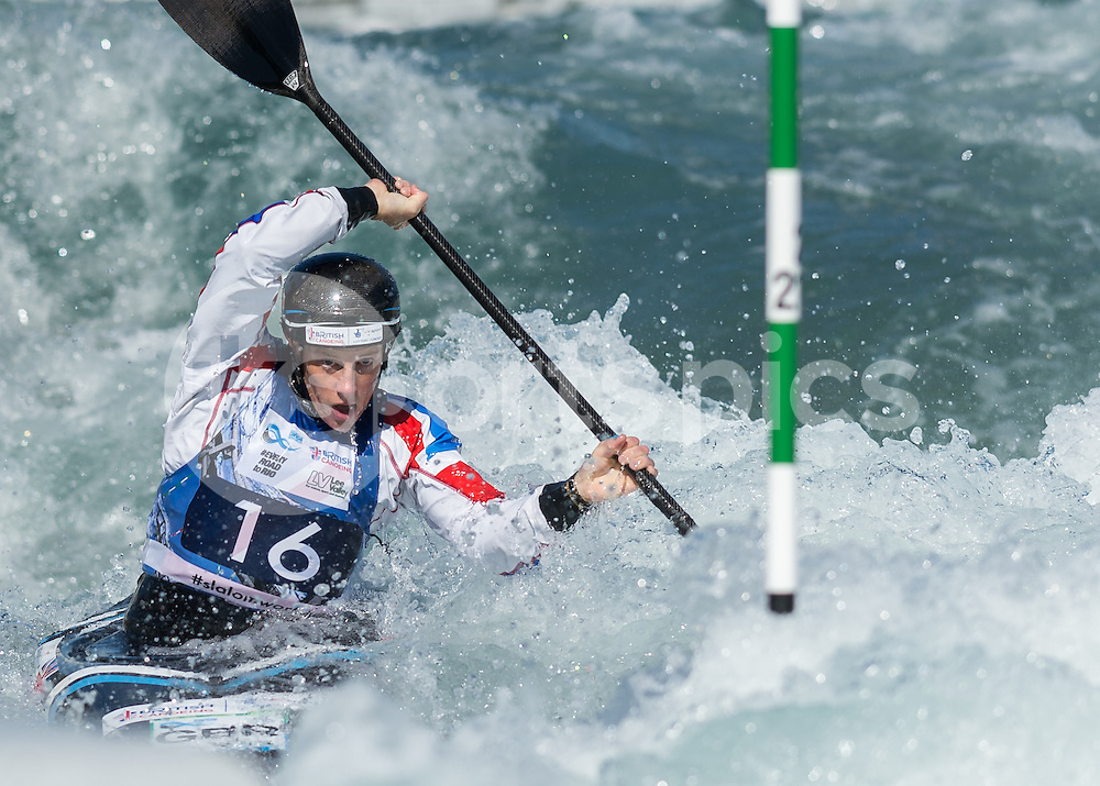 Fiona Pennie of Great Britain competes in the K1 during the ICF Canoe Slalom World Championship 2015 at Lee Valley White Water Centre, London, United Kingdom on 19 September 2015. Photo by Vince  Mignott.