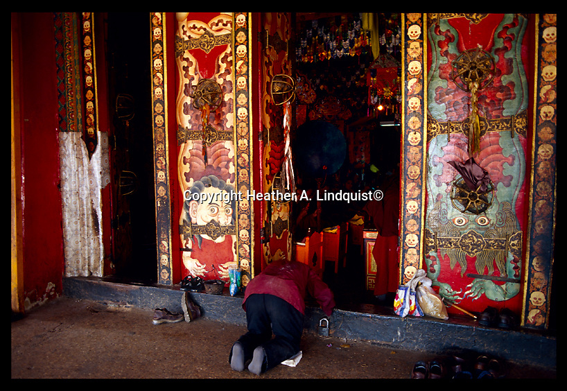Monks practicing in the Nechung Monastery, where the Oracle once resided did predictions for HH the Dalai Lama.  Located near the Drepung Monastery just outside of Lhasa.<br />