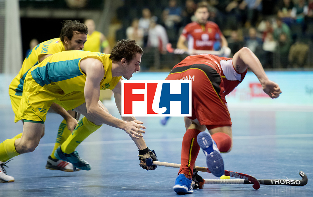BERLIN - Indoor Hockey World Cup<br /> Quarterfinal 4: Australia - Belgium<br /> foto: <br /> WORLDSPORTPICS COPYRIGHT FRANK UIJLENBROEK