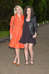 Left to right, JOANNA VANDERHAM and AMY MANSON at The Ralph Lauren & Vogue Wimbledon Summer Cocktail Party at The Orangery, Kensington Palace, London on 22nd June 2015.  The event is to celebrate ten years of Ralph Lauren as official outfitter to the Championships, Wimbledon.