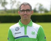German Soccer Bundesliga 2015/16 - Photocall of VfL Wolfsburg on 16 July 2015 at the Volkswagen-Arena in Wolfsburg, Germany: physiotherapist Michele Putaro