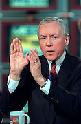 U.S. Senate Judiciary Chairman Orrin Hatch discusses the possible Senate trial of President Clinton following impeachment during NBC's Meet the Press December 20, 1998 in Washington, DC.