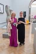 MARIELA FROSTRUP; FIONA RAE, Royal Academy of Arts Annual dinner. Piccadilly. London. 29 May 2012.