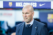 Zinedine Zidane from France of Real Madrid during the Spanish championship La Liga football match between FC Barcelona and Real Madrid on May 6, 2018 at Camp Nou stadium in Barcelona, Spain - Photo Xavier Bonilla / Spain ProSportsImages / DPPI / ProSportsImages / DPPI