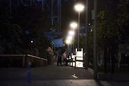 Town park at night