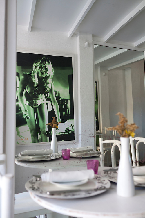 Pictures of Brigitte Bardot at Cigalon restaurant at Pousada do Sol.