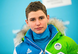 Matevz Malovrh during presentation of Slovenian Young Athletes before departure to EYOF (European Youth Olympic Festival) in Vorarlberg and Liechtenstein, on January 21, 2015 in Bled, Slovenia. Photo by Vid Ponikvar / Sportida