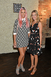 Left to right, AMBER LE BON and DONNA AIR at the launch of the new Rituals store at 29 James Street, Covent Garden, London on 1st September 2016.