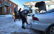 Bennington, VT -  Thursday, Jan. 30, 2014:   Patrolman James Gulley, right, goes through the trunk of a car after small amount of marijuana was found during a routine stop on Benmont Ave. No arrest or citation was made.<br />  <br /> Gov. Peter Shumlin devoted his entire state of the state address in January to what he called a &quot;full-blown heroin crisis&quot; in Vermont, where twice as many people died of heroin overdoses in 2012 as in the year before. Mr. Shumlin's address focused new attention on the problem, which has hit every corner of the state.  CREDIT: Cheryl Senter for The New York Times Heroin in Vermont