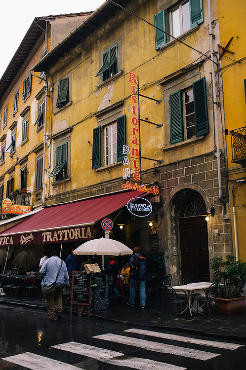 A traditional trattoria in Pisa, Italy