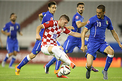 12.06.2015, Stadion Poljud, Split, CRO, UEFA Euro 2016 Qualifikation, Kroatien vs Italien, Gruppe H, im Bild Ante Rebic, Leonardo Bonucci // during the UEFA EURO 2016 qualifier group H match between Croatia and and Italy at the Stadion Poljud in Split, Croatia on 2015/06/12. EXPA Pictures © 2015, PhotoCredit: EXPA/ Pixsell/ Igor Kralj<br /> <br /> *****ATTENTION - for AUT, SLO, SUI, SWE, ITA, FRA only*****