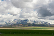 Fresh spring snow on Mt. Nebo at the southern end of the Wasatch Range, Utah