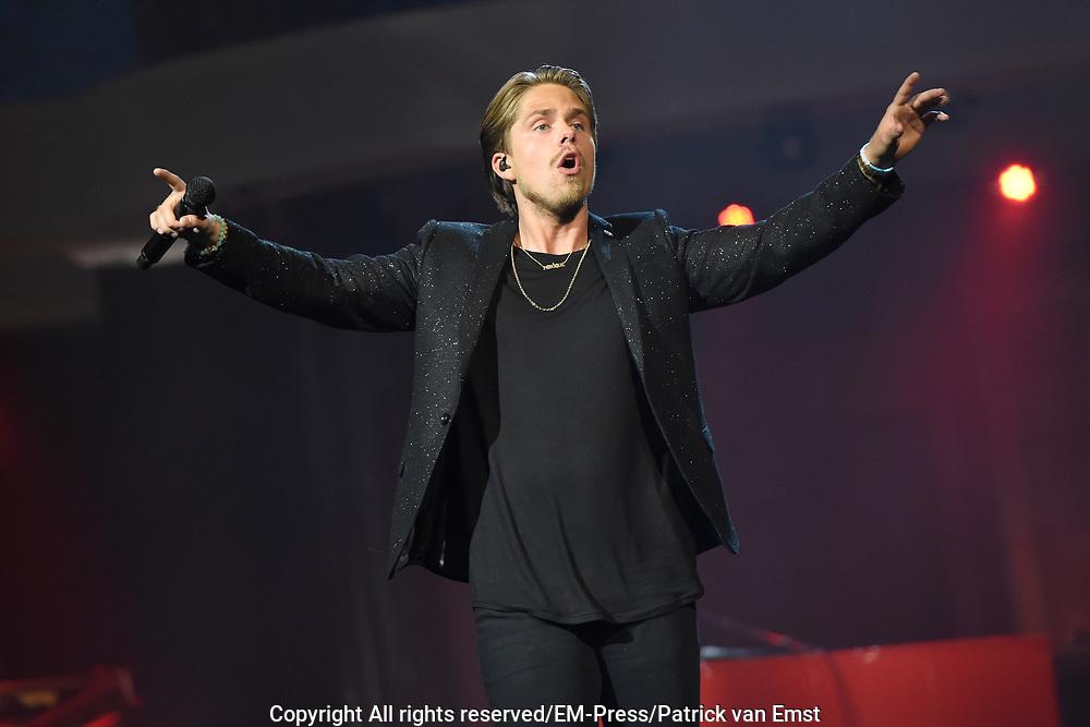 Het 5 jarig jubileumconcert van Holland Zingt Hazes in de Amsterdamse Ziggo Dome.<br /> <br /> Op de foto:  Andre Hazes Jr.