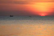 Phu Quoc Island. Sunset seen from Ong Lang Beach.