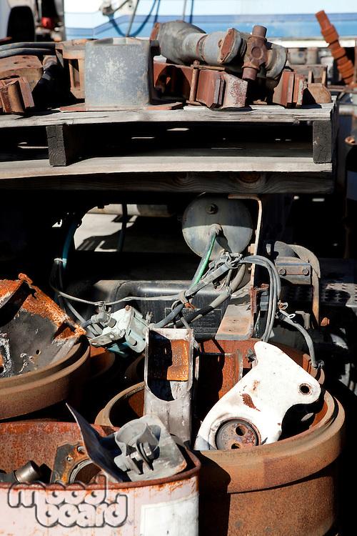 Portrait of a pile of scrap metal