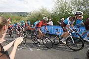 Roman Bardet #61 (AG2R La Mondiale) and Bahrain-Merida's  Gorka Izagirre Insausti #43 ride up the Côte de la Redoute climb during the 2018 Liège-Bastogne-Liège elite men's race on Sunday 22 April 2018.