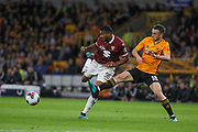 Bremer of Torino & Diogo Jota of Wolverhampton Wanderers during the Europa League play off leg 2 of 2 match between Wolverhampton Wanderers and Torino at Molineux, Wolverhampton, England on 29 August 2019.