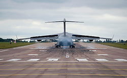 © licensed to London News Pictures. 08/09/2011. Brize Norton, UK..A C17 Globemaster carrying the body of Sargeant Barry John Weston of 42 Commando Royal Marines arrives at RAF Brize Norton today (08/09/2011). Sgt Weston was killed on August 30 while leading a patrol near the village of Sukmanda in southern Nahr-e Saraj, Helmand province. Photo credit: Ben Cawthra/LNP