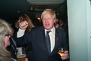 BORIS JOHNSON, Party to celebrate the publication of 'Winter Games' by Rachel Johnson. the Draft House, Tower Bridge. London. 1 November 2012.