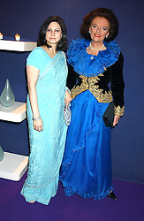 Left to right, MRS SAVITA APTE and LADY NEWALL at The British Red Cross London Ball - H2O The Element of Life, held at The Room by The River, 99 Upper Ground, London SE1 on 17th November 2005.<br />