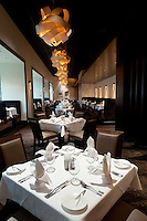 Interior photograph of the Kelly English Steakhouse at Harrah's Casino in Maryland Heights, MO near St. Louis.