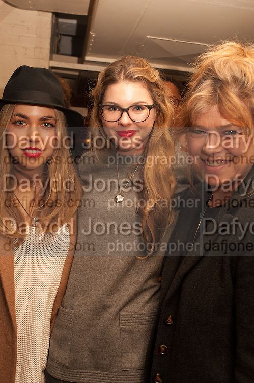 TILLY STANDING; TATIANA HAMBRO; SARAH STANDING, The English Gentleman at the  The Cabinet War Rooms, supported by Chivas deluxe blended Scotch whisky. Whitehall. London. 7 January 2013.