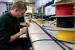 UK ENGLAND CREWE 5APR06 - Workers on the production line of electrical components at the Bentley Factory in Crewe...jre/Photo by Jiri Rezac..© Jiri Rezac 2006..Contact: +44 (0) 7050 110 417.Mobile:  +44 (0) 7801 337 683.Office:  +44 (0) 20 8968 9635..Email:   jiri@jirirezac.com.Web:    www.jirirezac.com..© All images Jiri Rezac 2006 - All rights reserved.