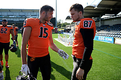 Netherland players as they take on Russia in the IFAF European Championships hosted at the Sixways Stadium - Photo mandatory by-line: Dougie Allward/JMP - 18/09/2016 - American Football - Sixways Stadium - Worcester, England - Netherlands v Russia - IFAF European Championship