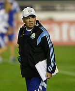 Argentina manager Alejandro Sabella looks on during the Argentina training session at the Est&aacute;dio S&atilde;o Janu&aacute;rio, Rio de Janeiro, ahead of tomorrow's World Cup Final.<br /> Picture by Andrew Tobin/Focus Images Ltd +44 7710 761829<br /> 12/07/2014